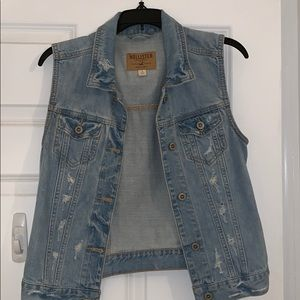 Distressed Hollister Jean Jacket